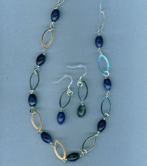 Blue Sodalite and Sterling Silver Set