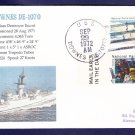 Destroyer Escort USS DOWNES DE-1070 MHcachets Naval Cover ONLY 1 MADE