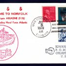 HHS ARIADNE F-72 Norfolk VA Royal Navy Ship Cover