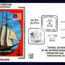 British Tall Ship SIR WINSTON CHURCHILL Operation Sail 1976 Ship Cover