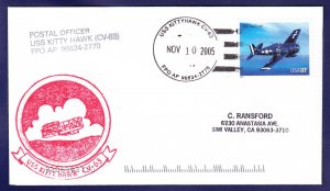 USS KITTY HAWK CV-63 Naval Cover