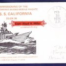Cruiser USS CALIFORNIA CGN-36 Commissioning Naval Cover