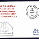 Uruguayan Navy ROU CAPITAN MIRANDA Statue of Liberty Celebration Naval Cover Norfolk VA