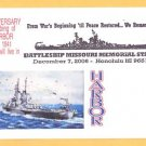 Battleship USS MISSOURI BB-63 Pearl Harbor Attack Anniv. Naval Cover