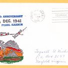 WWII Attack on Pearl Harbor 25th Anniversary Cover