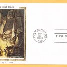 #1789 JOHN PAUL JONES Stamp Colorano Silk FDC