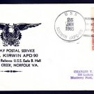 USS KIRWIN APD-90 FDPS Naval Cover