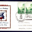 USS REINA MERCEDES IX-25 Washington's Birthday 1936 Naval Cover