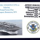 USS CARL VINSON CVN-70 Armed Forces Day MHcachets Naval Cover ONLY 8 MADE