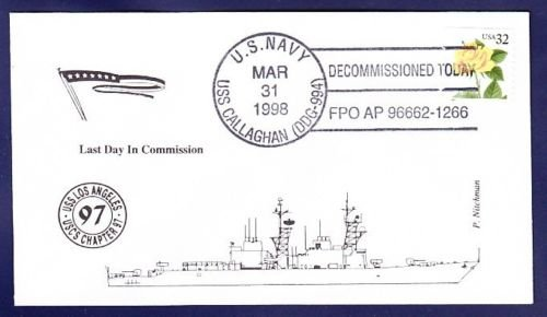USS CALLAGHAN DDG-994 Decommissioning Naval Cover