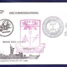USS MARVIN SHIELDS FF-1066 Decommissioning Naval Cover