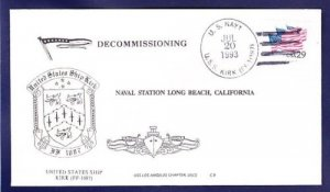 USS KIRK DE-1087 Decommissioning Naval Cover