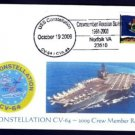 USS CONSTELLATION CV-64 Crewmember Reuinion MHcachets Naval Cover ONLY 8 MADE