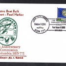 USS COLUMBIA SSN-771 Commissioning Anniversary Pearl Harbor Naval Submarine Cover