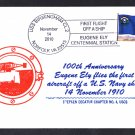 First Aircraft Flown from a US Navy Ship 100th Anniversary Cover