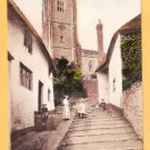 MINEHEAD CHURCH STEPS United Kingdom Postcard