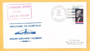 Submarine HMS ACHERON Norfolk VA Royal Naval Submarine Cover