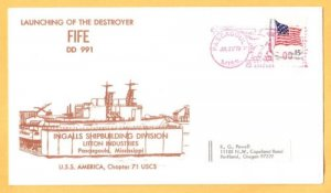 USS FIFE DD-991 Launching Naval Cover