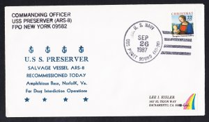 USS PRESERVER ARS-8 Recommissioning Drug Operations Naval Cover