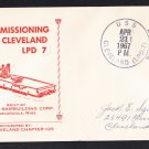 USS CLEVELAND LPD-7 Commissioning Naval Cover