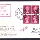 HMS ACHILLES F-12 Port Everglades FL Royal Navy Ship Cover