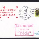 HMS ARETHUSA F-38 Norfolk VA Royal Navy Ship Cover