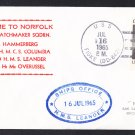 HMS LEANDER F-109 NATO Visit Norfolk VA Royal Navy Ship Cover