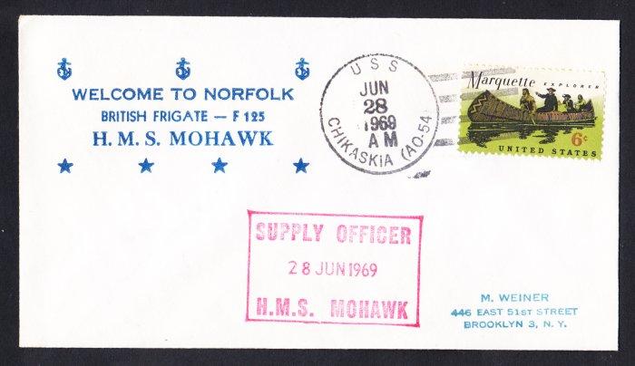 HMS MOHAWK F-125 Visit Norfolk VA Royal Navy Ship Cover