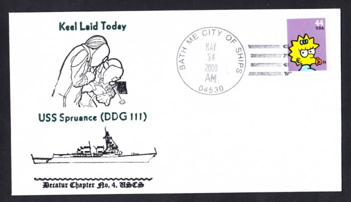 USS SPRUANCE DDG-111 Keel Laying Naval Cover