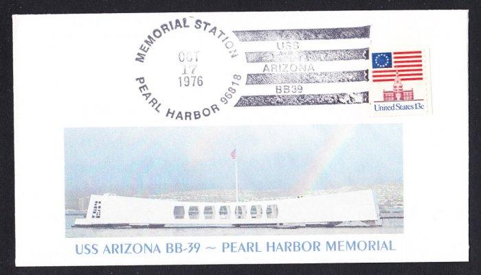 USS ARIZONA BB-39 Memorial Battleship Naval Cover MHcachets ONLY 2 MADE