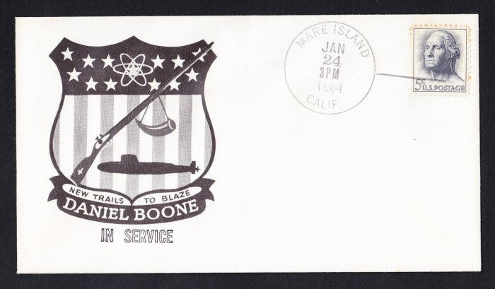 USS DANIEL BOONE SSBN-629 Placed In Service Naval Submarine Cover
