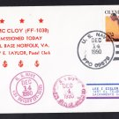 USS McCLOY FF-1038 Welcome To Norfolk Naval Cover