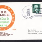 Amphibious Cargop Ship USS SAINT LOUIS LKA-116 Commissioning BECK #B819 Naval Cover