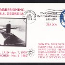 USS GEORGIA SSBN-729 Commissioning Naval Submarine Cover