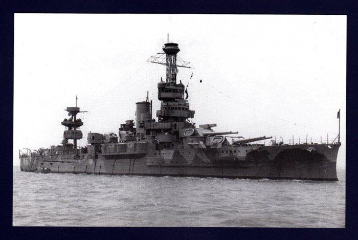 USS WYOMING BB-32 Battleship Ship Postcard