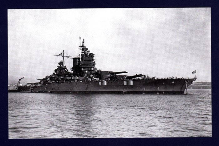 USS NEW MEXICO BB-40 Battleship Navy Ship Postcard