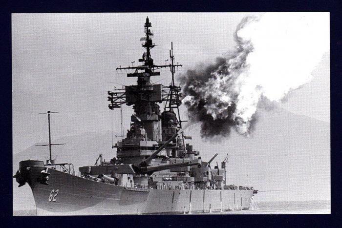 USS NEW JERSEY BB-62 Battleship Navy Ship Postcard