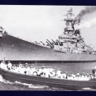 USS MISSOURI BB-63 Batleship Navy Ship Postcard