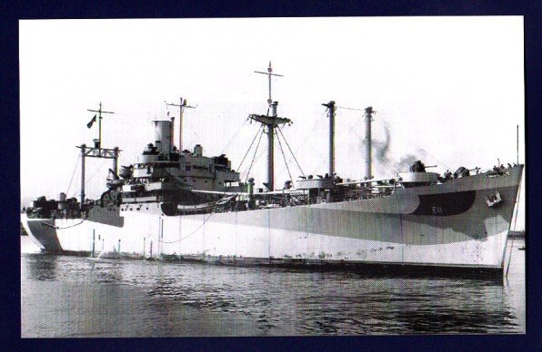 USS MOUNT HOOD AE-11 Ammunition Ship Postcard