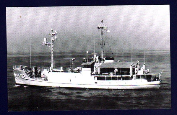 USS PUEBLO AGER-2 Research Ship Postcard CAPTURED BY NORTH KOREA