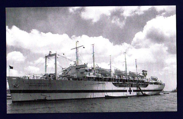 USS BENEVOLENCE AH-13 Navy Hospital Ship Postcard