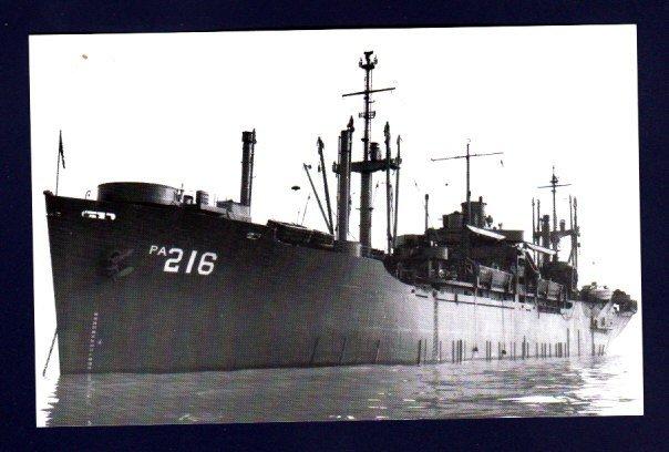 USS NESHOBA APA-216 Amphibious Assault Transport Ship Postcard