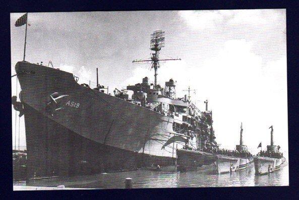 USS PROTEUS AS-19 & FLEET SUBMARINES Navy Ship Postcard
