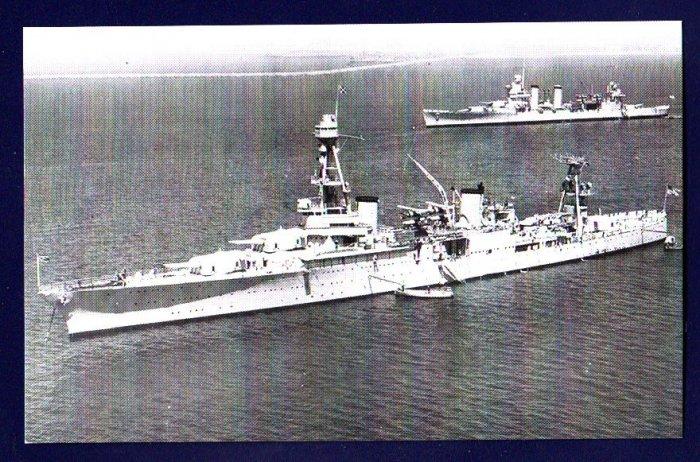 USS HOUSTON CA-30 Cruiser Navy Ship Postcard