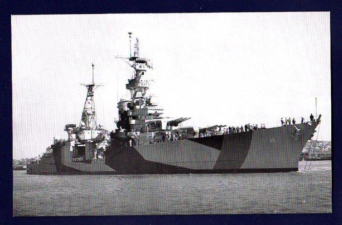 USS PORTLAND CA-33 Cruiser Navy Ship Postcard
