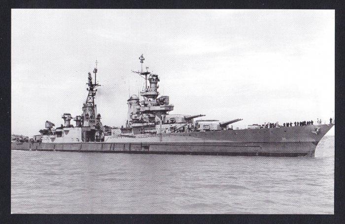 USS INDIANAPOLIS CA-35 Cruiser Navy Ship Postcard