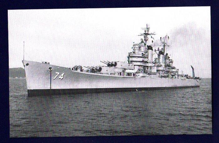 USS COLUMBUS CA-74 Cruiser Navy Ship Postcard