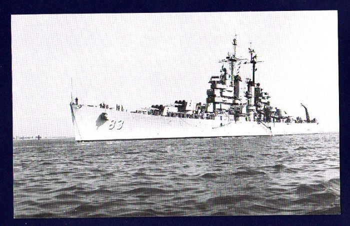 USS MANCHESTER CL-83 Cruiser Navy Ship Postcard