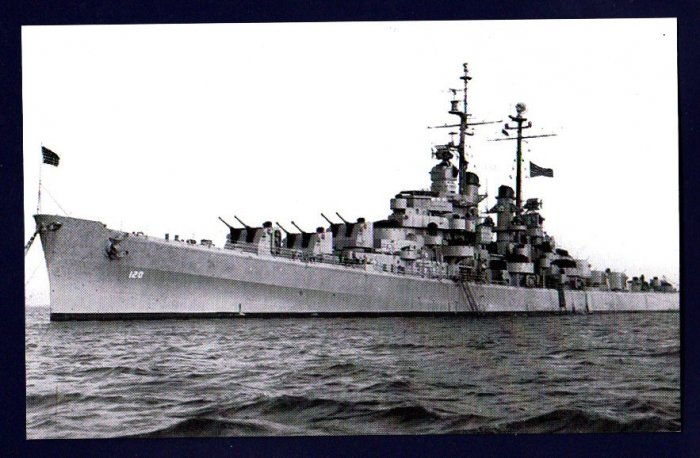USS SPOKANE CL-120 Cruiser Navy Ship Postcard