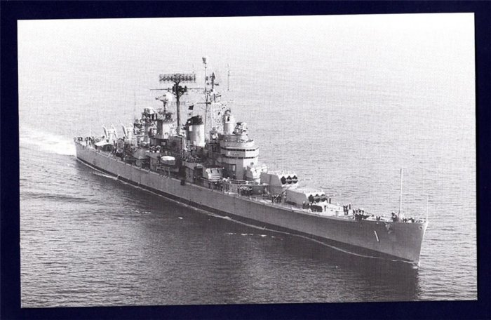 USS BOSTON CAG-1 Guided Missile Cruiser Navy Ship Postcard